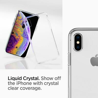 iPhone XS Max XR X Case Genuine SPIGEN Liquid Crystal SLIM CLEAR Cover for Apple 5