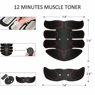 Ultimate EMS AB & Arms Muscle Simulator ABS Training Home  Abdominal Trainer Set 6