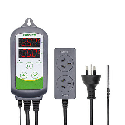 AU PLUG 240V Dual Stage ITC-308 digital Temperature Controller Pre-wired water 9