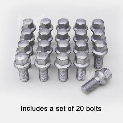 12+4 W176 12-16 Black Wheel Bolts /& Locks 14x1.5 Nuts for Mercedes A-Class