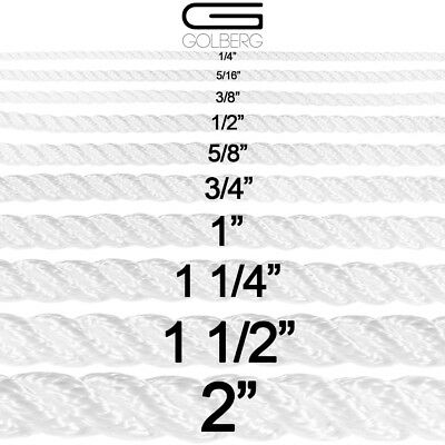 5//16 White Cotton Rope 1 1//2 1 3//4 1//4 7//32 1//2 5//8 3//8 3//16 Several Lengths to Choose 3//16 7//32 1//4 5//16 3//8 1//2 5//8 3//4 1 1 1//4 GOLBERG G 1 1//4 GOLBERG Twisted 100/% Natural Cotton Rope 5//32