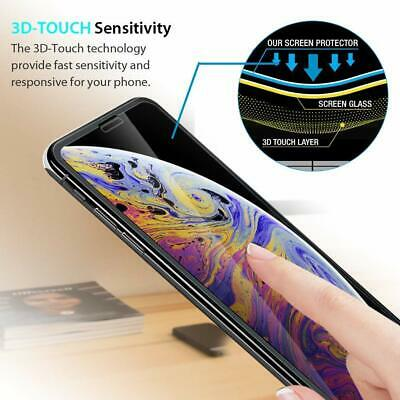 For iPhone X XR XS Max - FULL COVER 9D Tempered Glass Screen Protector [2-Pack] 3