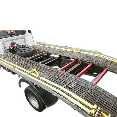 5T (5000Kg) Heavy Duty Recovery Ratchet Straps 4.2m x 50mm and 4x 1T Wheel Links 4