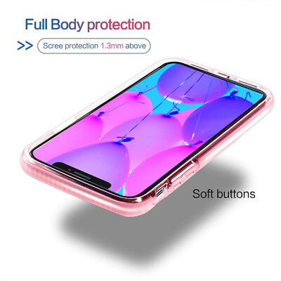 For iPhone 11 Pro Max XS Max XR X 8 Plus Shockproof Case Cute Girly Luxury Cover 12
