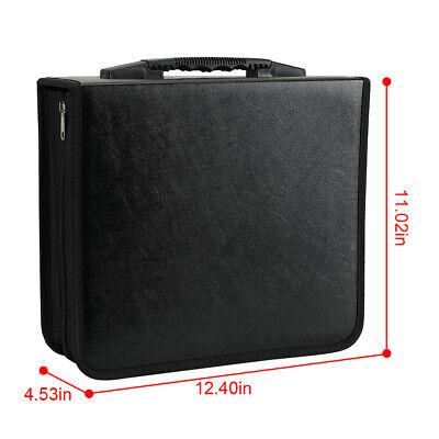 400 Discs Portable CDs DVD Wallet Holder Bag Album Organizer Media Case Storage 5