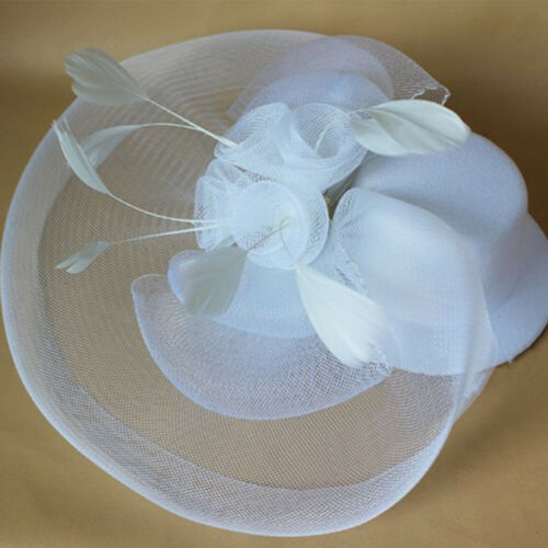 Large Fascinator Headband Hat Weddings Ladies Day Races Royal Ascot Equip 5