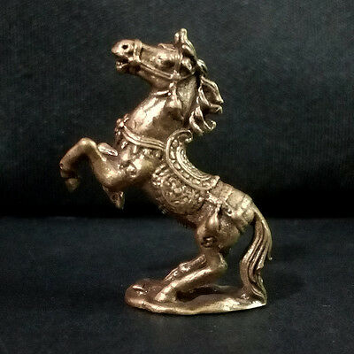 Horse figurine Statue brass Lucky animal Wealth Rich Power Charm DAF