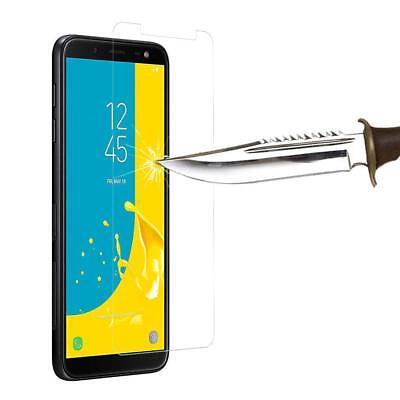Vitre Protection Film Verre trempé écran Samsung J6 2018 J6 Plus+ Coque Silicone 9