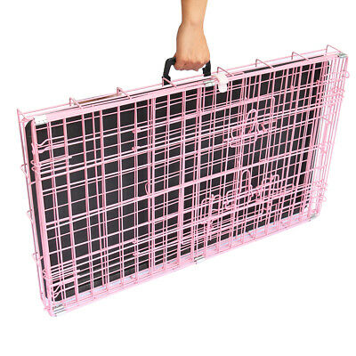 Dog Cage Pet Puppy Crate Carrier Home Folding Door Training Kennel S M L XL XXL 4