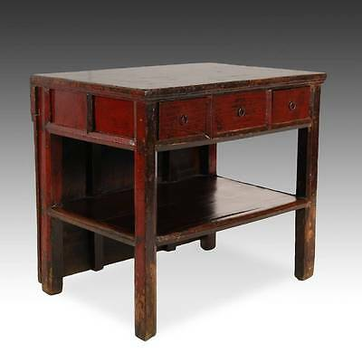 Antique Chinese Qing Opera Podium Table Elm Wood Furniture Hebei China 19Th C. 4