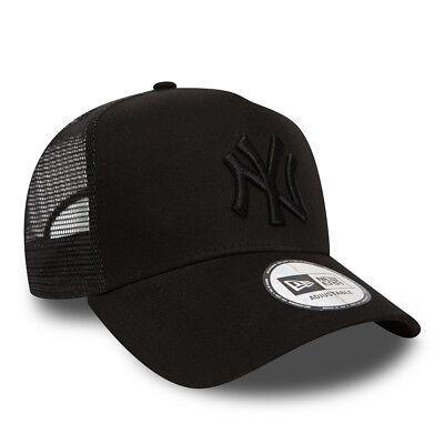 New Era Mens Baseball Cap.new York Yankees Mlb Black A Frame Mesh Trucker Hat 74 2