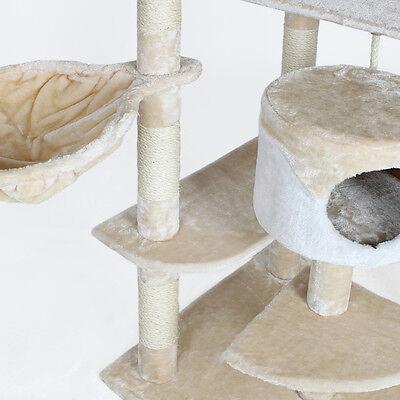 Arbre à chat griffoir grattoir blanc - beige 204cm 3