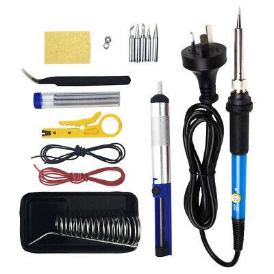 15IN1 Soldering Iron Kit 60W Electronics Welding Tool Adjustable Temperature AU 10