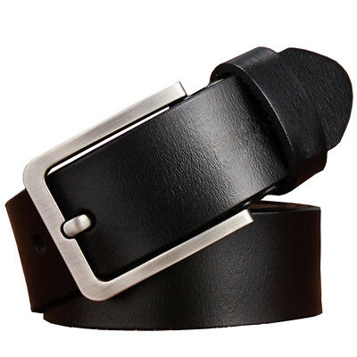 """Mens Belt Genuine Leather Belts For Dress & Jeans Big & Tall Wasit Size 28""""-64"""" 2"""