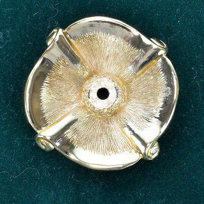 1968 Florenta Backplate Knob Drawer Puller 18K Gold Plated Handle Sea Shell 2