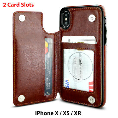 Apple iPhone X XS MAX 8 PLUS XR Case Flip Leather Wallet Card Shockproof Cover 8