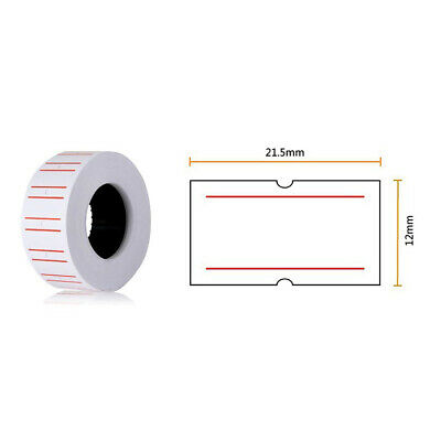 10 Rolls Price Pricing Label Paper Tag Tagging For MX-EOS5500 Labeller Gun 7
