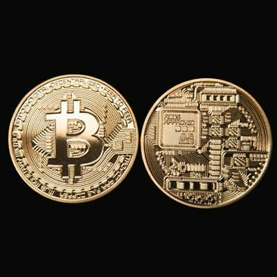 New 2018 Bitcoin Physical Collectible Coin BTC Gold Plated 1 Ounce 40mm UK STOCK 7