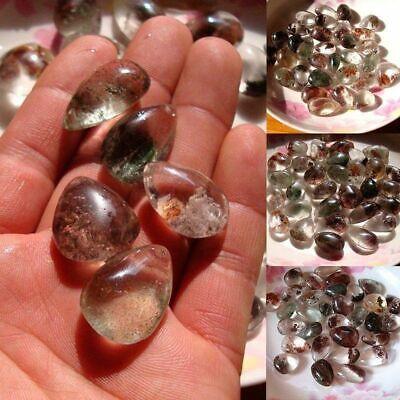 Natural Green Ghost Phantom Stone Crystal Quartz Gemstone Specimen Healing Stone 4