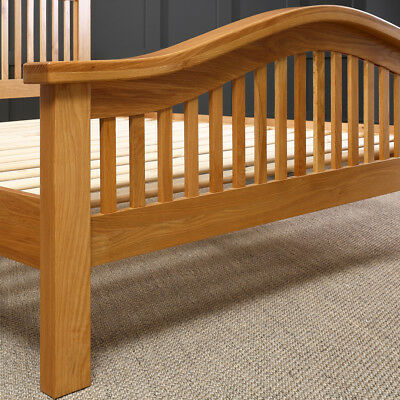 Solid oak arch rail 5ft king size bed