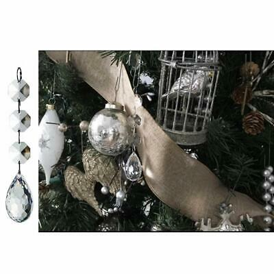 30 Christmas Clear Acrylic Crystal Glass Ball Ornaments Holiday Craft Decoration 4