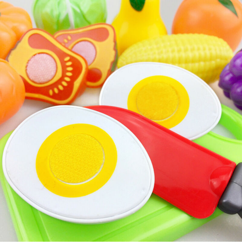 24pcs  Kitchen Fruit Vegetable Pretend Play Toy  Cutting Toy Simulation Food 7