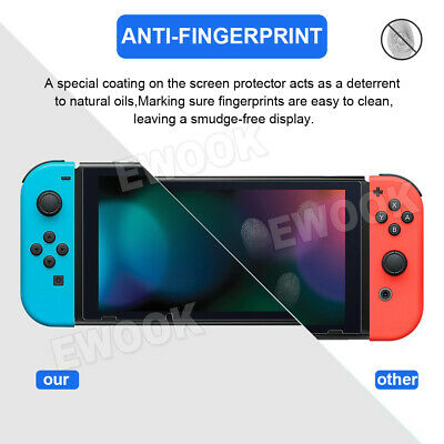2 X EWOOK Nintendo Switch Tempered Glass Screen Protector for Nintendo Switch 4