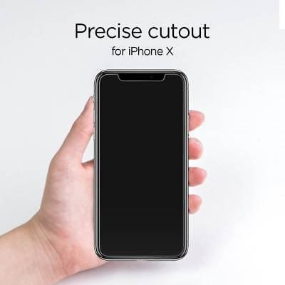 100% Verre trempé Film Protection écran+ Coque crystal iPhone X XS Max XR 8 7 6 4