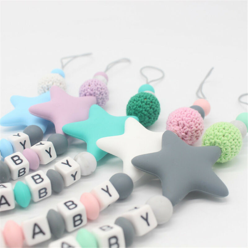 Baby Silicone Pacifier Chain Teething Soother Chew Toy Dummy Clips New Hot 3