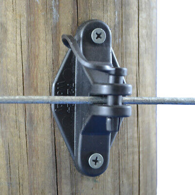 200 Electric Fence Pinlock Insulator Insulators Timber Wood Post Nail Screw On 4