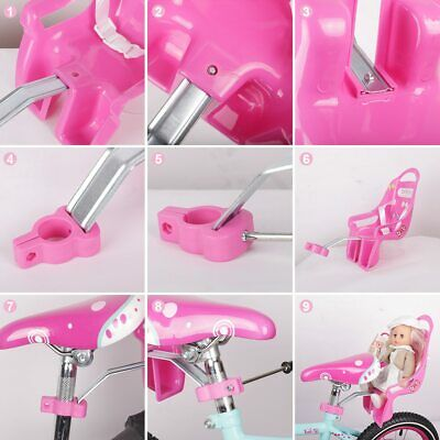 Bike Doll Carrier Seat Kids Girls Seats Post Dolls Holder Stickers Bicycle Kit 7