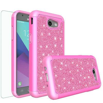 Samsung Galaxy J7 Prime, J7 Sky Pro, J7 V Case, Screen Protector Glitter Cover 4