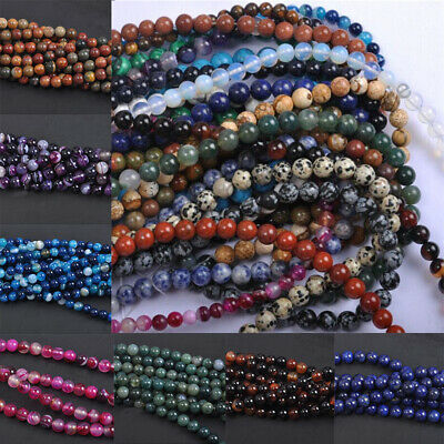 Wholesale Natural Gemstone Amethyst Lapis Round Loose Beads Pick 4/6/8/10MM 2