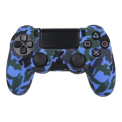 Actecom® Funda + Grip Silicona Camuflaje Azul Mando Sony Ps4 Playstation 4 3
