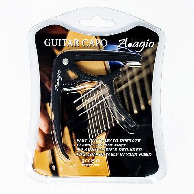 Black ADAGIO CAPO For Acoustic, electric and classical guitars, banjo BLACK 2