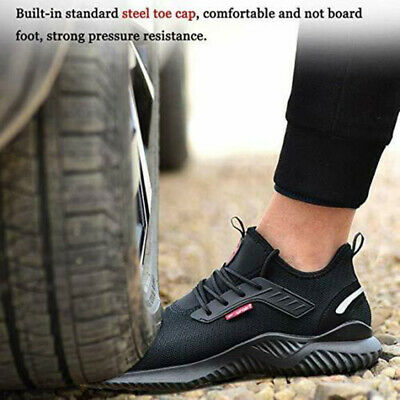 UK Safety Shoes for Men Women Steel Toe Trainers Lightweight Work Shoes Sports 9