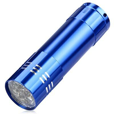 ULTRA BRIGHT 9 LED POWERFUL SMALL CAMPING TORCH FLASH LIGHT LAMP LIGHTS Random! 12