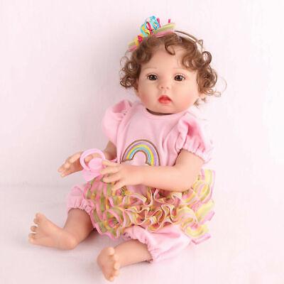 "16"" Full Body Silicone Reborn Baby Doll Anatomically Handmade Xmas Gifts Doll 2"