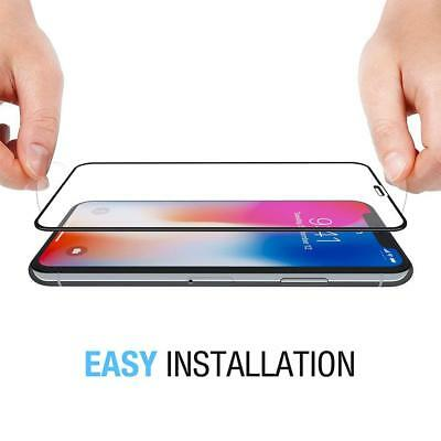 For iPhone X XS Max XR 7 8 Plus Full Coverage Tempered Glass Screen Protector /s 5