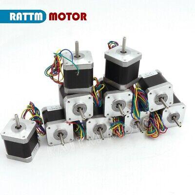 【EU Stock】10Pcs Nema17 Stepper Motor 78oz-in 48mm for Mill CNC Router/3D Printer 2