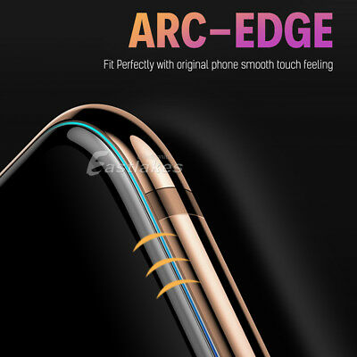 Apple iPhone XS Max XR X 10D Tempered Glass Screen Protector Full Cover 8 7 Plus 10