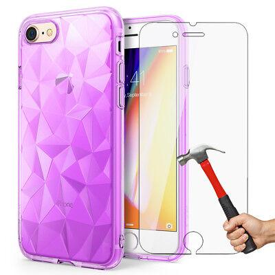Antichoc Cristal Coque iPhone 8 7 6s 6 Plus XR XS Max 11 Pro+ Vitre Verre trempé 7