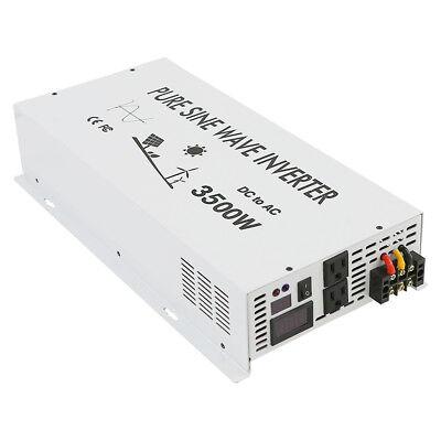 3500Watt Pure Sine Wave Car Power Inverter 12/24V to 120V/220V Remote Control 4