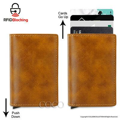 RFID Blocking Leather Credit Card Holder Case Money cash Wallet Clip Purse OZ 7