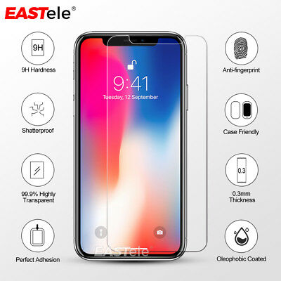 2x EASTele Apple iPhone 8 Plus 7 11 Pro XS Max Tempered Glass Screen Protector 9