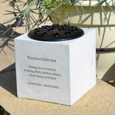 Personalised Customised Memorial Graveside Flower Rose Bowl Vase Pot 8