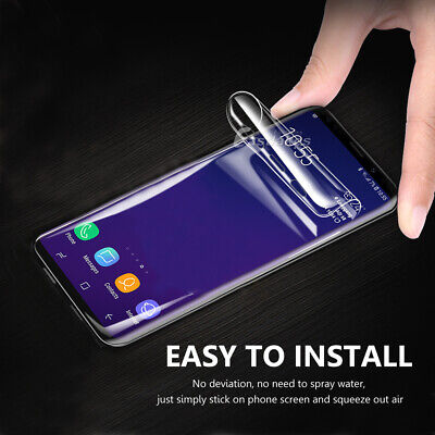 HYDROGEL Screen Protector Samsung Galaxy S10 5G S9 S8 Plus Note 10+ 8 9 S7 Edge 5