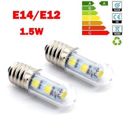 2X E14 3W 2.5W 1.5W LED Light Cooker Hood Chimmey Fridge Bulb White Warm White 2