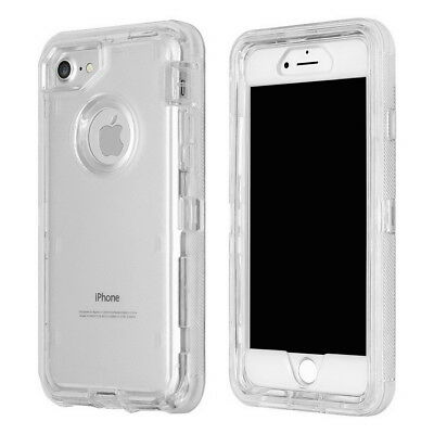 huge selection of b82a3 56864 IPHONE X XS 6 7 8 + Clear Defender Cover Case Fits Otterbox Defender Belt  Clip