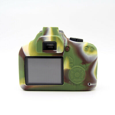 Rubber Silicon Case Cover Protector Skin for Canon EOS 3000D 4000D Rebel T100 3